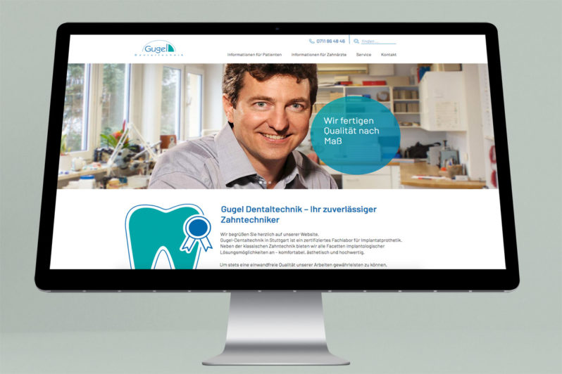 Website-Referenz Gugel Dental