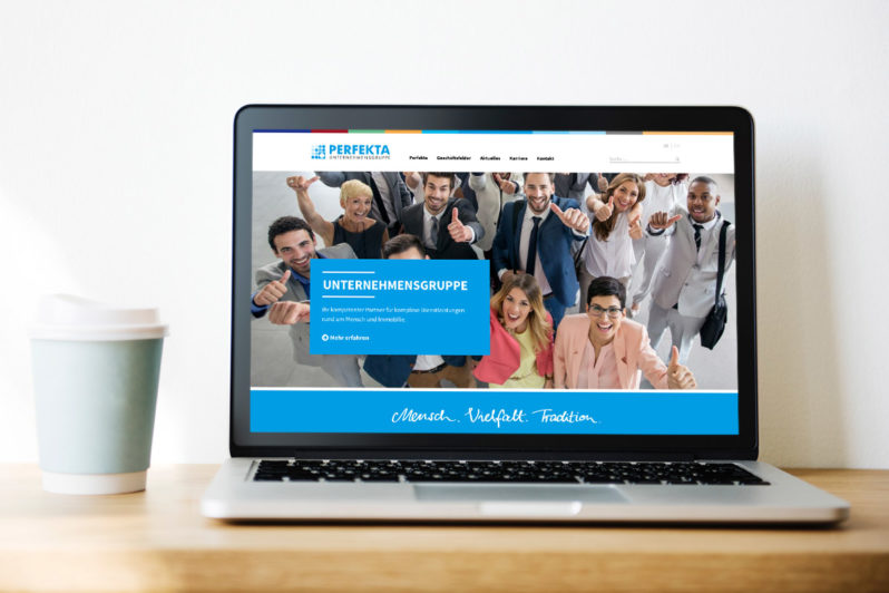 Website-Referenz Perfekta