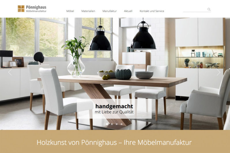 Website-Referenz Pönnighaus
