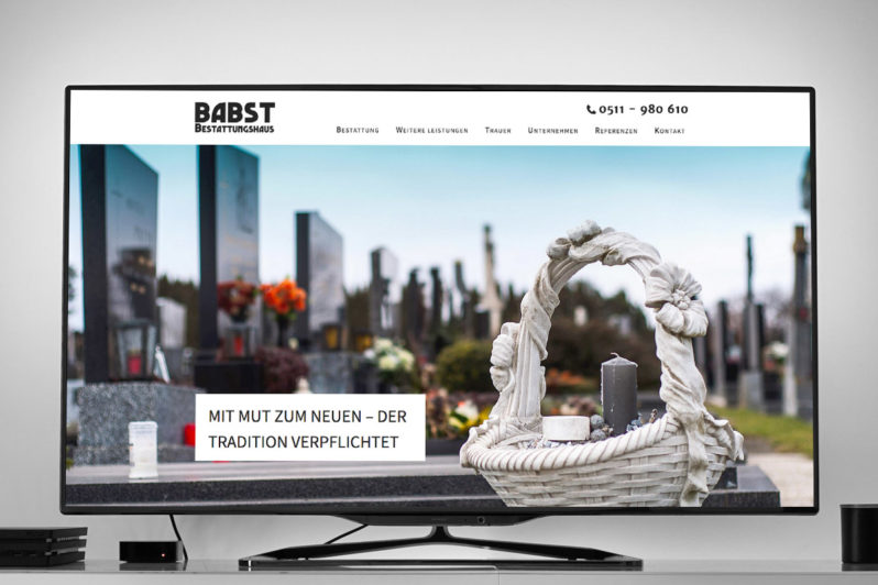 Website-Referenz Babst Bestattungshaus