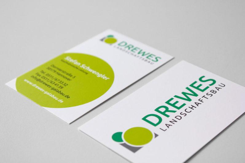 Print-Referenz Drewes Landschaftsbau – Visitenkarte
