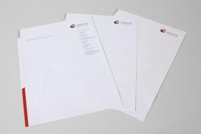 Print-Referenz Kroos Objekteinrichtungen – Briefbogen