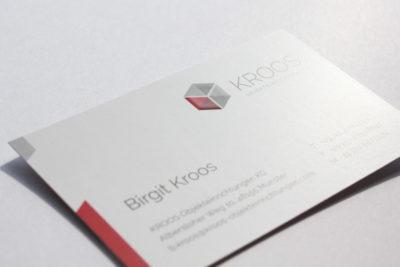 Print-Referenz Kroos Objekteinrichtungen – Visitenkarte