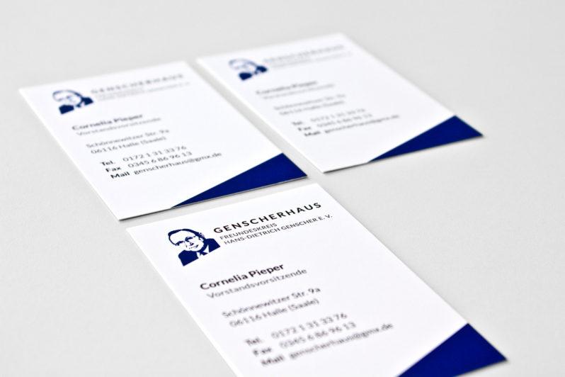 Print-Referenz Genscherhaus – Visitenkarten