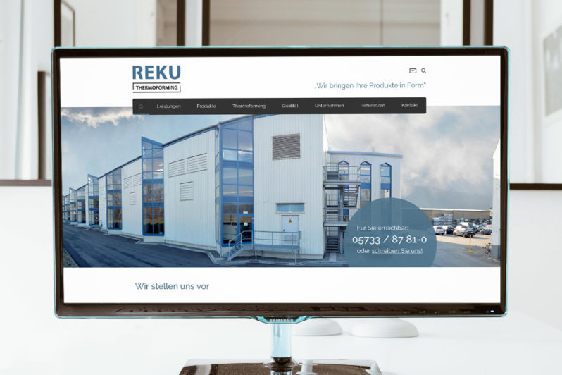 Website-Referenz Reku Thermoforming