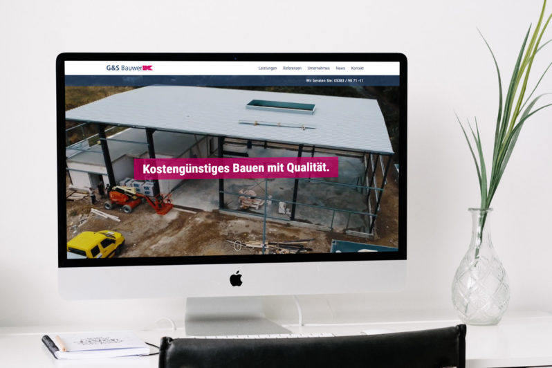 Website-Referenz G&S Bauwerk