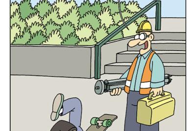 """""""Machen Sie Platz. Ich bin Vermessungsingenieur!"""" Der BDVI-Kalender 2020 Abbildung"""
