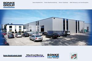 Bonke Group Website Referenz