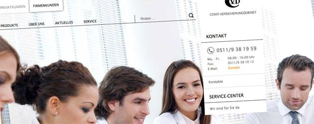 Online-Premiere für den Conti Versicherungsdienst