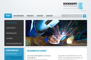 Eickhoff Stahl-Metallbau Website Referenz
