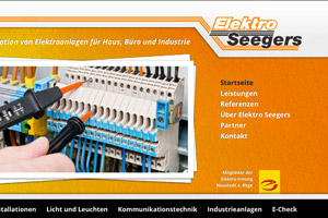 Elektro Seegers Website Referenz
