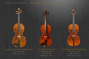 Geigenbau Uebel Website Referenz