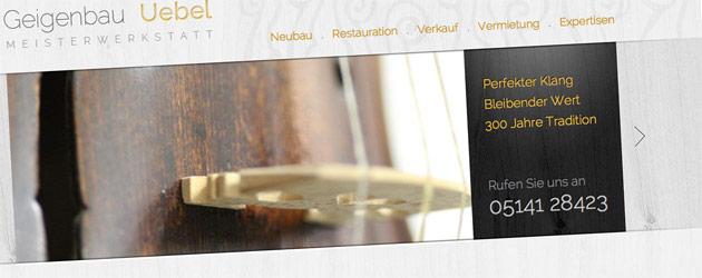 Tradition seit 1725 – Geigenbau Uebel