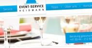 Event-Service Heidmann Webseite