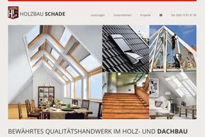 Website Referenz Holzbau Schade