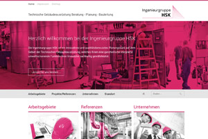 Ingeniergruppe HSK Website Referenz