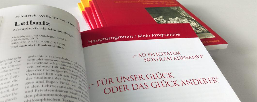 Eine Programmbroschüre für den X. Internationalen Leibniz-Kongress