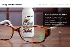 Mosel GmbH Webseite Referenz