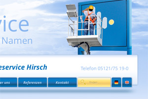 Montageservice Hirsch Website Referenz