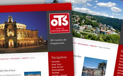 Neuer Internet-Auftritt für OTS Gruppenreisen Abbildung