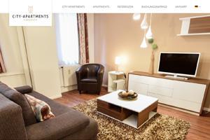 Website Referenz City-Apartments