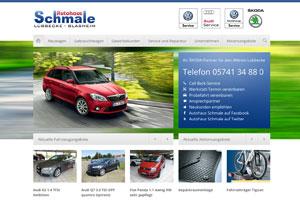 Autohaus Schmale Website Referenz
