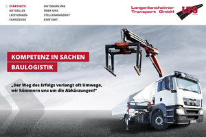 Website Referenz Langenlonsheimer Transport GmbH