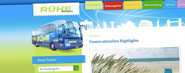 Rühe Reisen startet mit aktueller Webseite durch