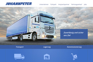 Webdesign Referenz Spedition Johannpeter