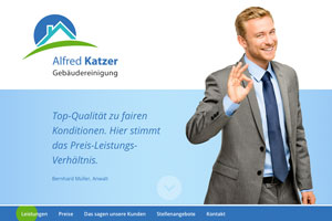 Website Referenz Alfred Katzer Gebäudereinigung