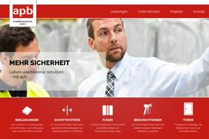 Website Referenz apb brandschutz