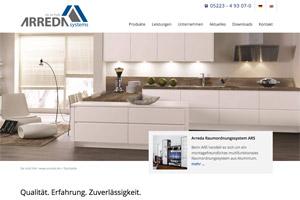 Website Referenz Arreda Systems