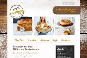 Website Referenz Bäckerei Schwichtenberg