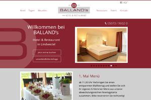 Website Referenz Ballands