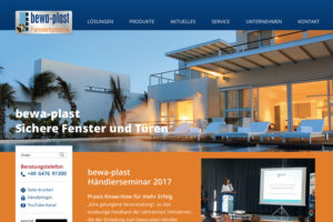 Website Referenz bewa-plast