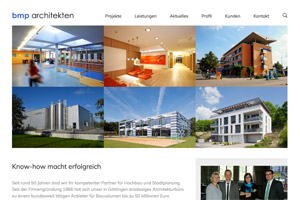 Website Referenz bmp architekten