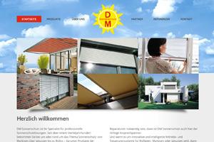 Website Referenz DM Sonnenschutz