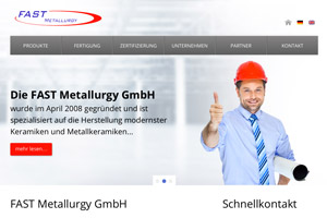 Website Referenz FAST Metallurgy