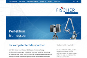 Website Referenz Fischer 3D-Messtechnik