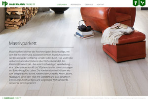 Website Referenz Habermann Parkett