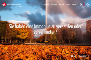 Website Referenz Haus der Immobilien