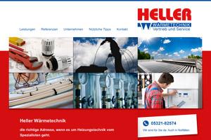 Website Referenz Heller Wärmetechnik
