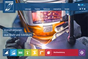 Website Referenz Herdie Edelstahltechnik