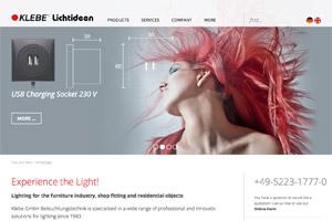 Website Referenz Klebe Beleuchtung