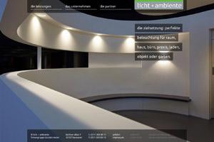 Website Referenz Licht + Ambiente