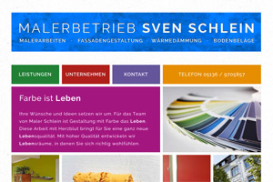 Website Referenz Maler Schlein