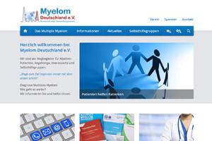 Website Referenz Myelom Deutschland e. V.