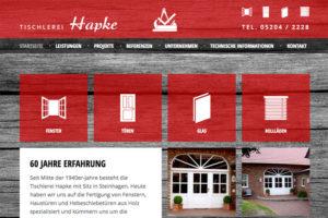Website-Referenz Tischlerei Hapke
