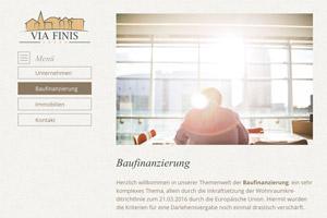 Website Referenz Via Finis